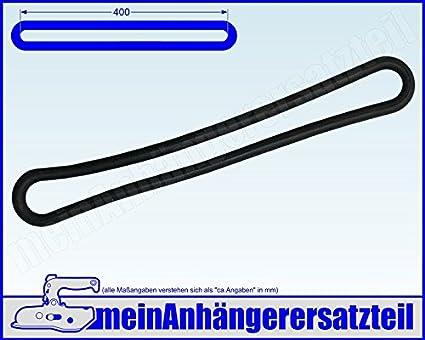 4x Gummi Spannring Gummiband f/ür Pkw Anh/änger Planen Anh/ängerplane 400mm schwarz