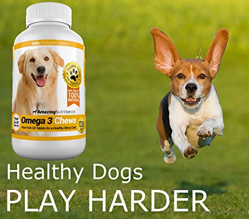 Amazing nutritionals omega 3 fish oil chew able tablet for for Omega 3 fish oil for dogs
