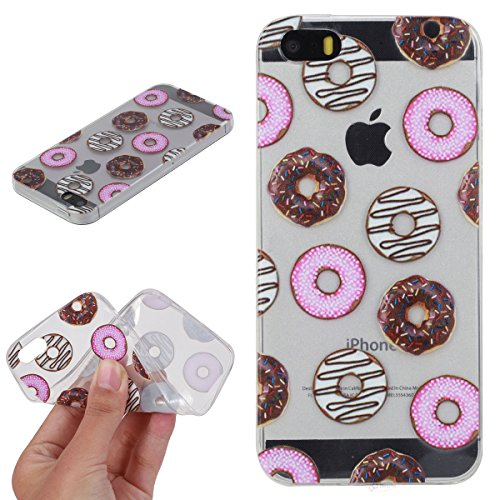 Beiuns pour Apple iPhone 5 5G 5S / iPhone SE (4 pouces) Coque en Silicone TPU Housse Coque - HX522 Donuts