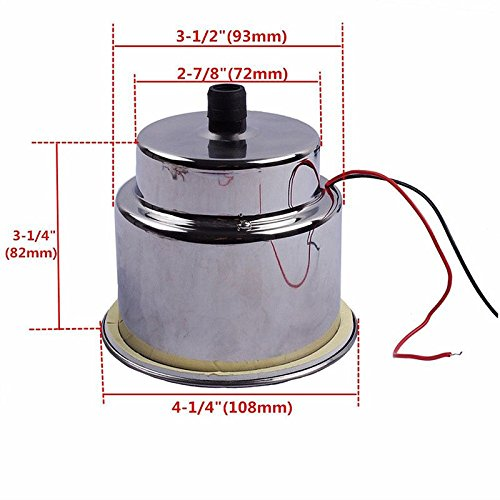 NUZAMAS Set of 2 Stainless Steel Cup Drink Holder with LED Light Red Marine Boat RV Camper Caravan 5559023055