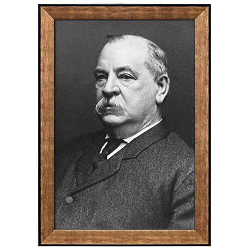Portrait of Grover Cleveland (22th President of the United States) American Presidents Series Framed Art Print