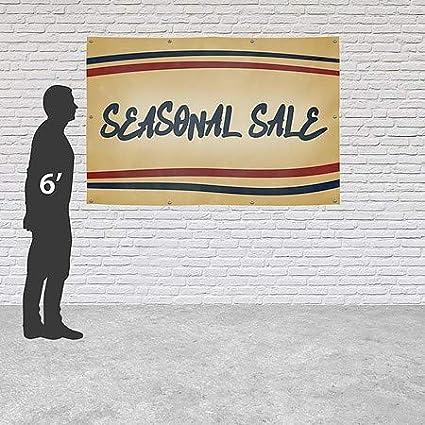 Nostalgia Stripes Heavy-Duty Outdoor Vinyl Banner CGSignLab 12x8 Seasonal Sale