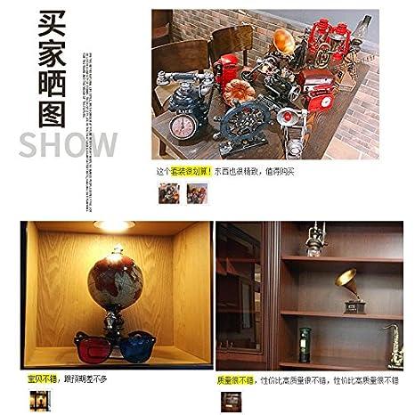 SQBJ Adornos de resina modelo Retro tienda fonógrafo TV GABINETE gabinete Creativo Accesorios Decoración Home Furnishing Cafe,buzón rojo: Amazon.es: Hogar