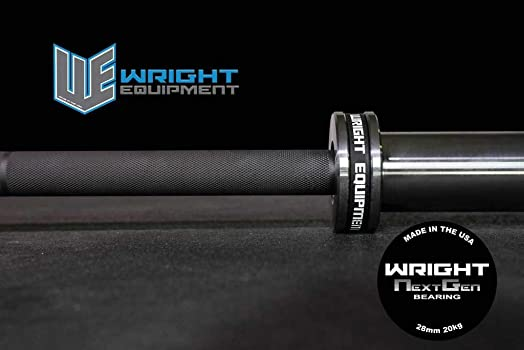 Wright Equipment 20kg Next Generation Bearing Barbell Black-Silver