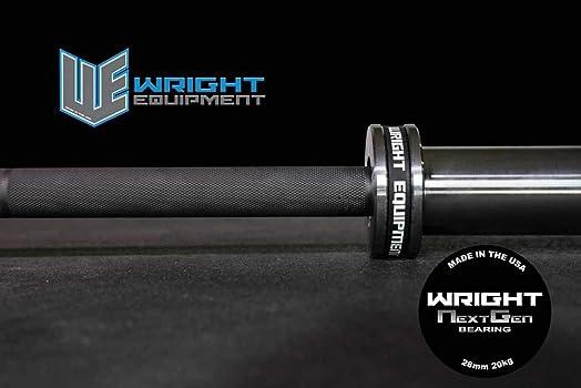 Wright Equipment 20kg Next Generation Bearing Barbell Black-Silver