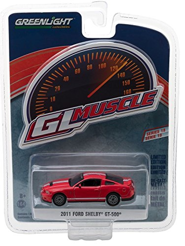 (Greenlight GL Muscle Series 18 Limited Edition - 2011 Ford Shelby GT-500 (Red))