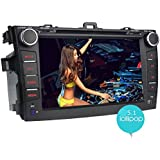 "JOYING 8"" Quad Core 1024600 Android 5.1 Car Stereo for Toyota Corolla 2007 2008 2009 2010 2011 2012 2013 indash..."