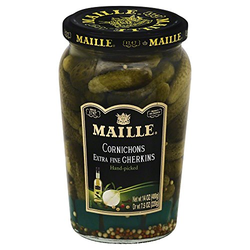 Maille Cornichons Gherkins 14.0 OZ(Pack of 12) by Maille