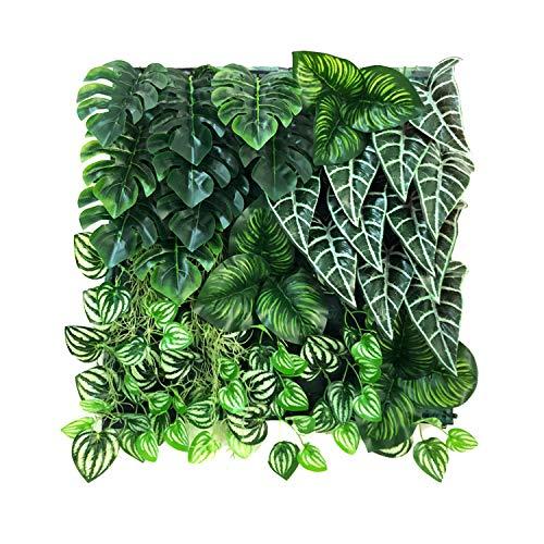 (BESAMENATURE 6 Pieces Artificial Vertical Garden Green Plants Wall/Artificial Wall Panels for Decor, 20
