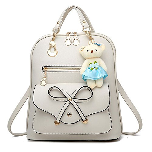 All purpose Bag Backpack Korean Women Bag Backpack functional Multi Casual Dual Travel White Lady match wHqFt