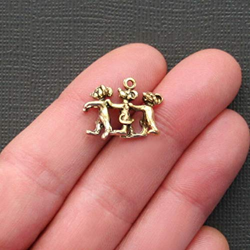 (5 Three Blind Mice Charms Antique Gold Tone Just Adorable 3D Jewelry Making Supply, Pendant, Bracelet, DIY Crafting and Other by Wholesale Charms)