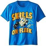 SpongeBob SquarePants Big Boys' Short Sleeve T-Shirt Shirt, Royal, Large/  14/16