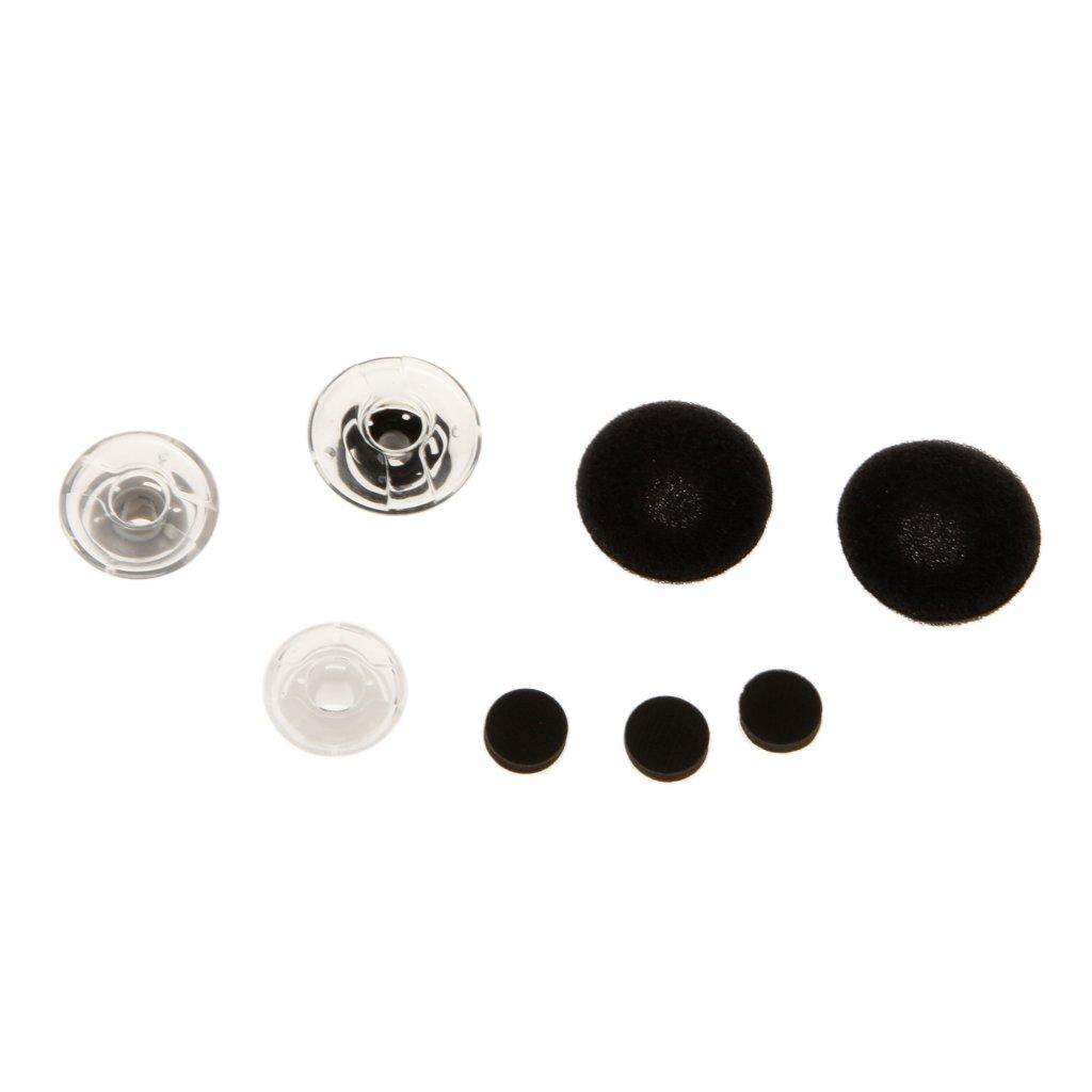 3 Arandelas para Plantronics Voyager Headset 2 Espumas Bot/ón de Auriculares de 3 Tama/ños