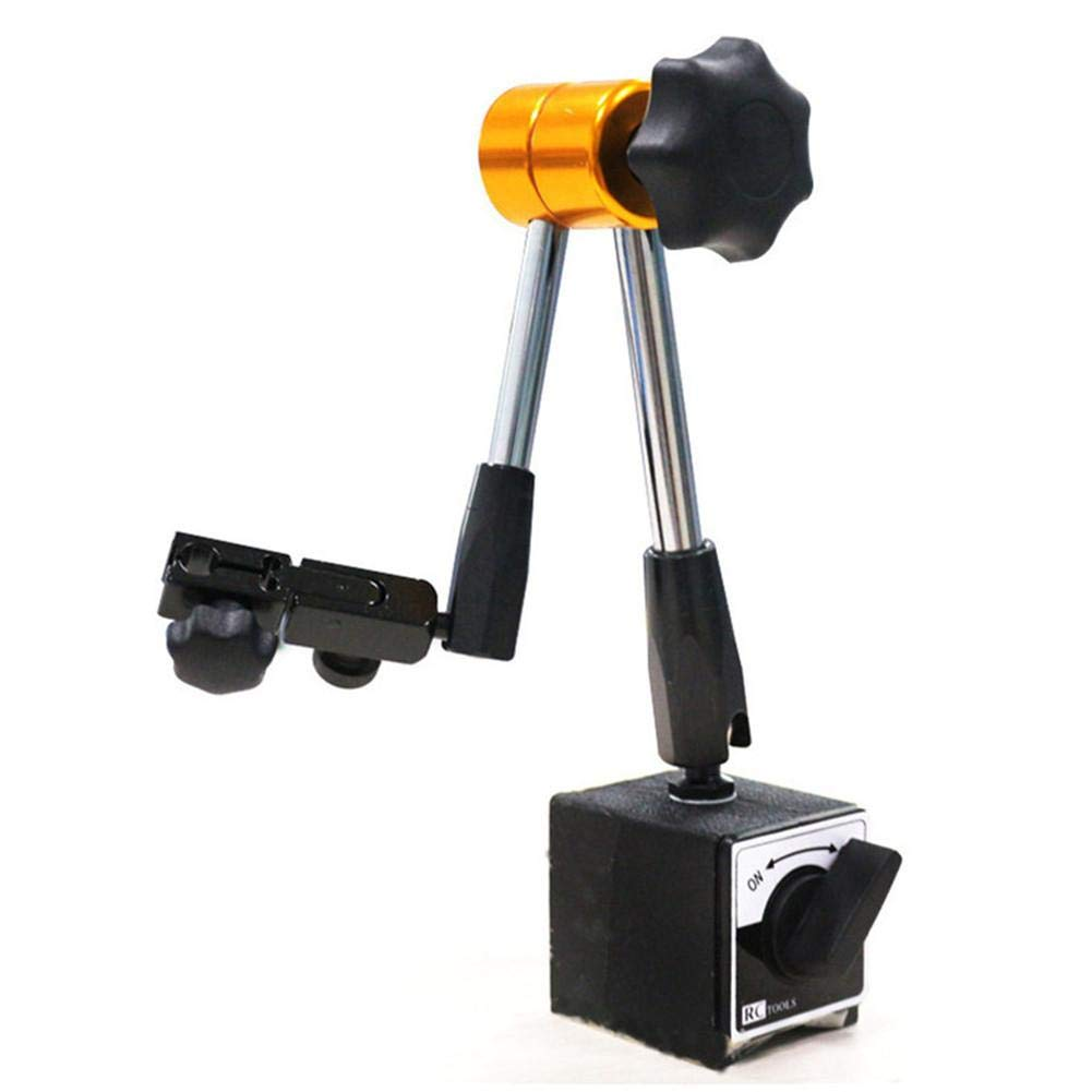 Mini Universal Magnetic Metal Base Holder Dial Test Indicator Flexible Tool Kit with Fine Adjustment Thread M8