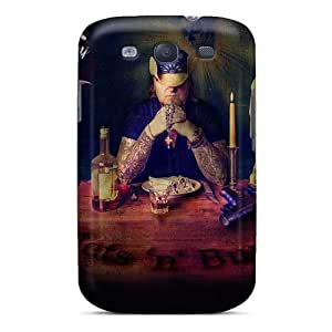 Shockproof Hard Cell-phone Case For Samsung Galaxy S3 With Allow Personal Design Realistic Lullacry Band Pattern JamieBratt