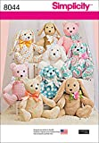 Simplicity Patterns Two-Pattern Piece Stuffed Animals Size: Os (One Size), 8044
