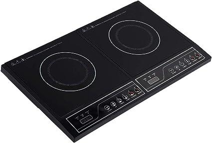 Placa de inducción doble de 3400 W, placa de cocción a 2 ...