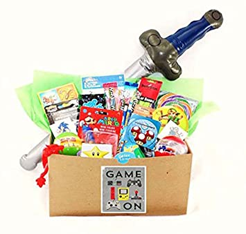 Amazon video gamer candy toy gift basket with pokemon video gamer candy toy gift basket with pokemon skylanders zelda sonic mario negle Images