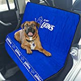 Pets First NFL CAR SEAT Cover – Detroit Lions Waterproof, Non-Slip Best Football Licensed PET SEAT Cover for Dogs & Cats.