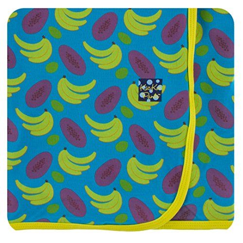 Kickee Pants Little Girls Print Swaddling Blanket - Tropical Fruit, One (Tropical Bamboo Nursery)
