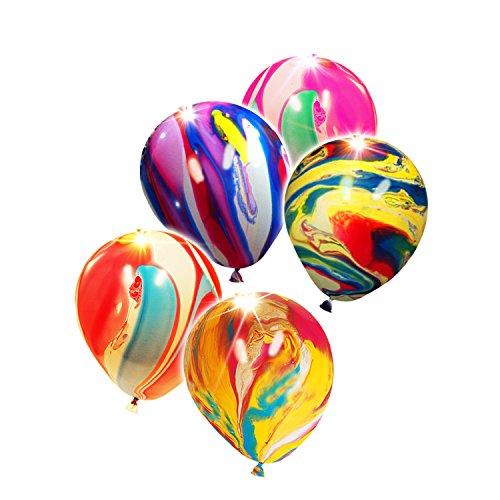 LED Light-Up Balloons Party Favors - Tie Dye Edition (5 Pack)]()
