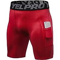 Pantalones Cortos de Compresión Hombre Secado Rápid Correr