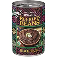 Amy's Organic Refried Beans, Black Beans, 15.4 Ounce (Pack of 12)