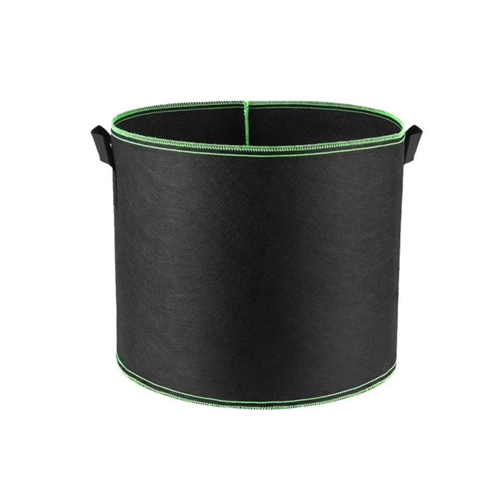 super1798 Planting Bag Non-Woven Fabric Handle Round Flower Pot Container Gardening Tool - Black 1815cm