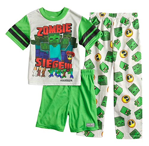 Minecraft Zombie 3-Piece Pajama Set, Size 8