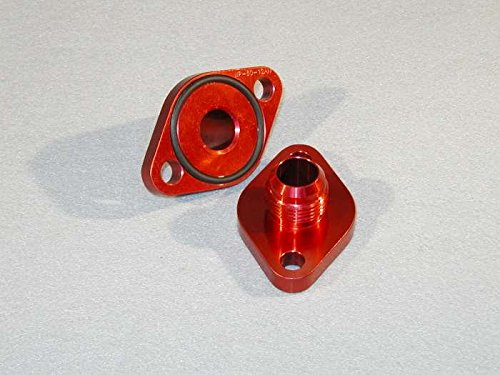 Meziere WP8012ANANR Red 12AN Water Pump Port Adapter for Big Block Chevy - Pack of 2 WP8012ANR