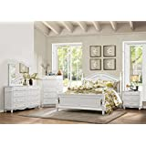 Calgary 5 Piece Queen Bedroom Set with Chest in White Finish