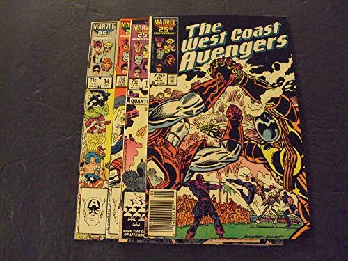 4 Iss West Coast Avengers #11-14 Copper Age Marvel Comics