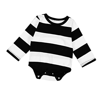 Amiley baby girl clothing Pants , Newborn Baby Kids Boys Girls Stripe Romper Jumpsuit Outfits Clothes
