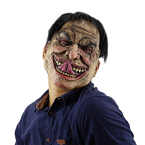 Halloween Mask Funy Scary Creepy Kinky Smile Clown Mask Cosplay Props for Masquerade Party Theme Party Halloween (Creepy Smile Mask)