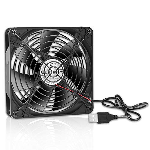 Fan Grills Copper (ELUTENG 140mm Fan Grill 5V USB Blower 25db Ventilador PC Case 14cm Amp Cooling Fans Compatible Mini Computer / PS4 / PS3 / Xbox/Water Cooler/Router / 3.5 HDD Enclosure Static Radiator)