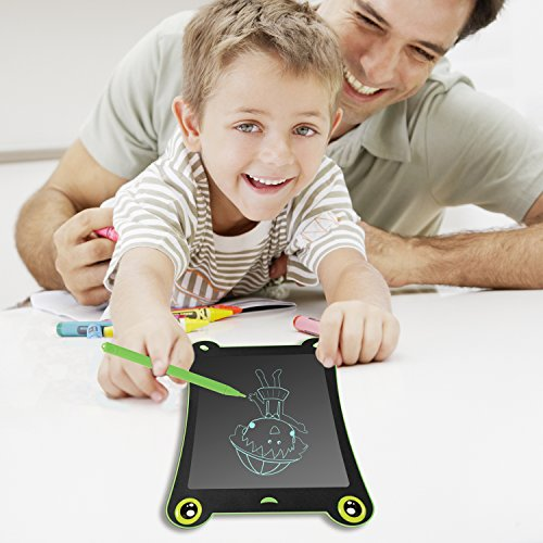 WOBEECO LCD Writing Tablet Frog Pad Children Doodle Pad Scribble Game Magnetic Drawing Board Kid's Fun Toy Smart Learning Tool 2 Styluses Included (Blue) by WOBEECO (Image #6)