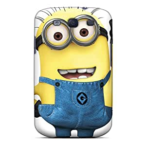 Shock-Absorbing Cell-phone Hard Covers For Samsung Galaxy S3 With Allow Personal Design HD Despicable Minion Pattern JonBradica