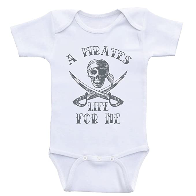 f95b118d4 Nautical Baby Clothes A Pirates Life for Me Pirate Shirt Bodysuits for  Babies (3mo-