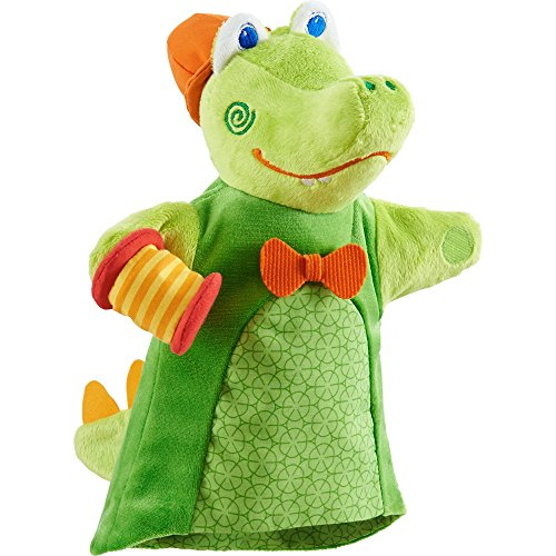 HABA Crocodile Musical Puppet with Squeaking Accordian
