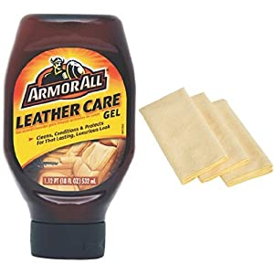 Armor All 10961 Leather Care Gel and Microfiber Cloths Bundle