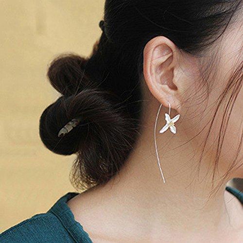 Rurah Fashion Four (4) Leaf Clover Shamrock Dangle Hook Earrings