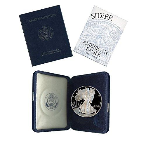 1996 P American Silver Eagle 1 Proof w/OGP & - Silver Eagle Coin 1996 American