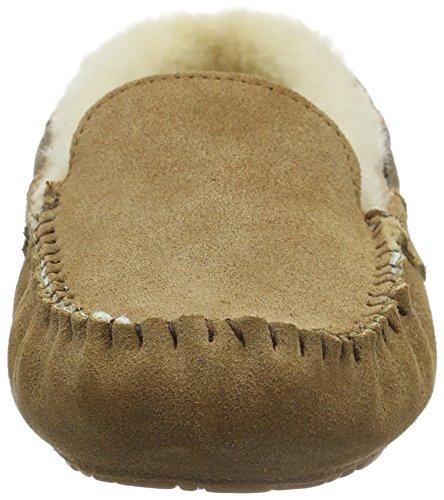Para 56 chestnut Marrón Mirre Shepherd Braun De Mujer Cuero Slipper 21 Casa Brown 13782 Zapatillas x8p6OS
