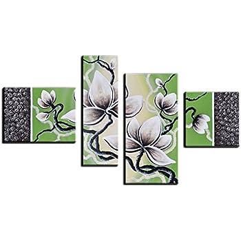 Amazon Noah Art Contemporary Floral Artwork White Tulip