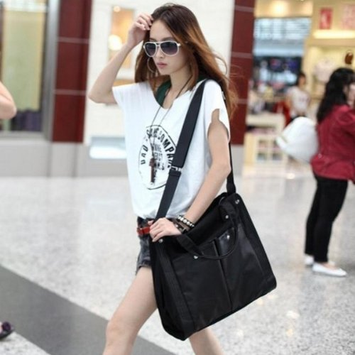 Fashion Lady Girl Large Volume Classic Travel Sports Canvas Shoulder Bag, Bags Central