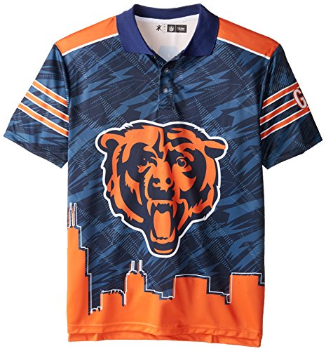 Chicago Bears Polyester Short Sleeve Thematic Polo Shirt Extra Large