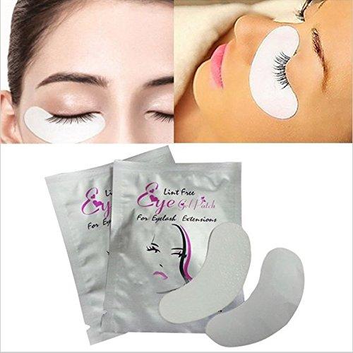 (Derma Diva Gel Pads For Eyelash Extensions - Make Up Patches - Present Ideas for Mother - Eyelash Gel Pad Kit - Eyelash Extension Pads for Sensitive Skin - False)