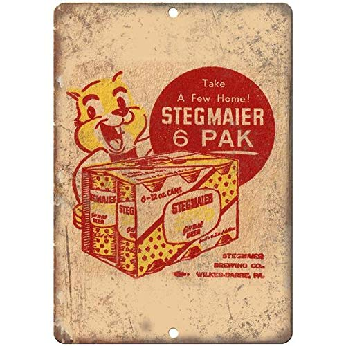 Tollyee Stegmaier Beer Vintage Man Cave Décor Reproduction Metal Sign 10 X 14 ()