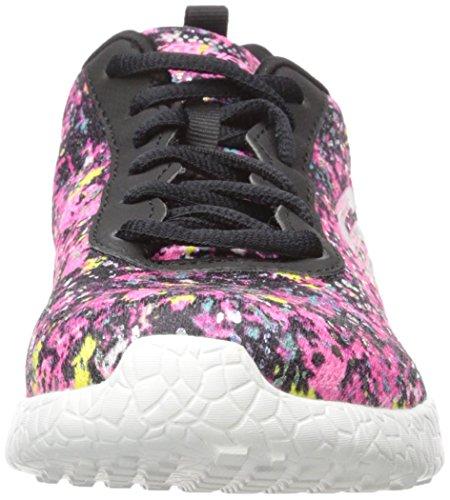 Skechers Deporte de la explosión de la zapatilla de deporte de la manera iluminaciones Black/Multi