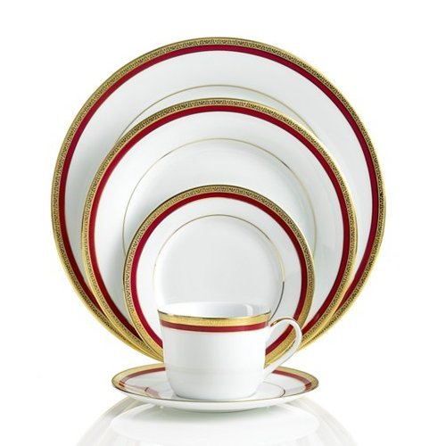 Charter Club Red Rim 5 Piece Place Dinnerware Setting